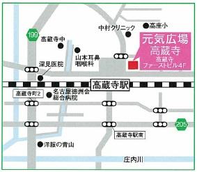 地図 高蔵寺